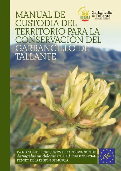 Portada del Manual de Custodia del Territorio para la Conservación del Garbancillo de Tallante (pinchar imagen para descargar el manual íntegro)