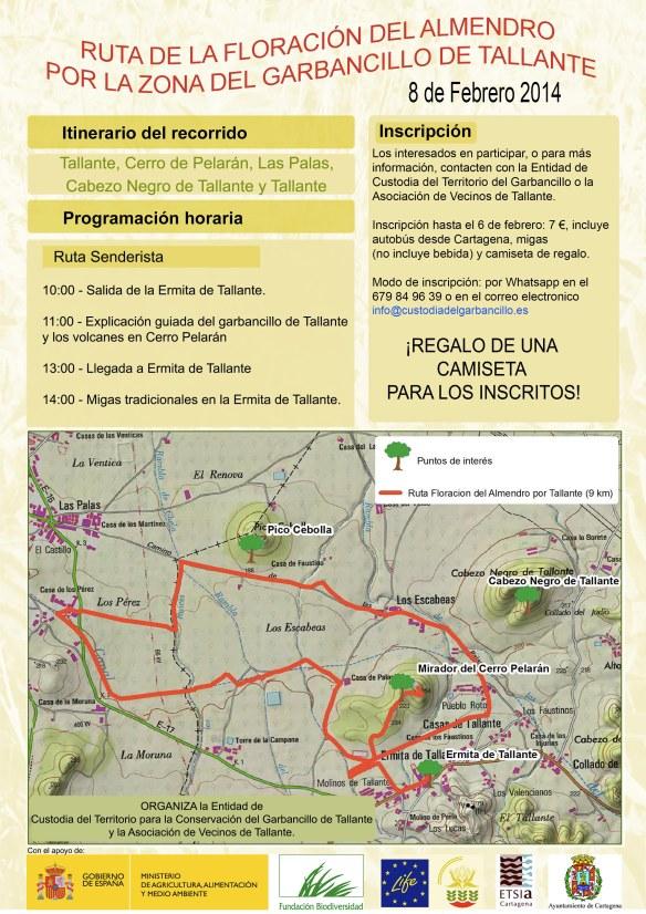 Ruta Floracion Almendro TALLANTE