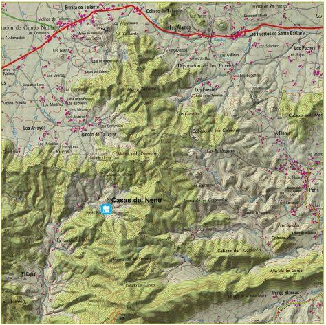 Ubicación geográfica de las Casas Rurales del Nene.