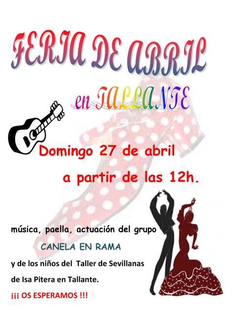 Cartel II Feria de Abril en Tallante