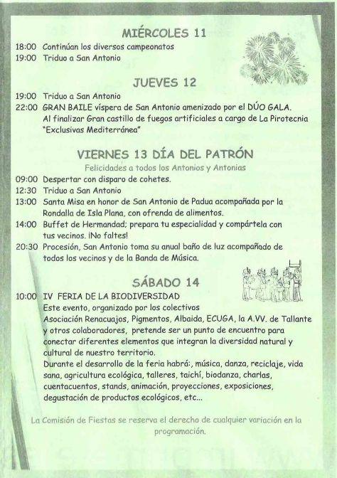 Programa de Fiestas - 2
