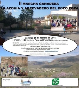 Cartel II MARCHA GANADERA-LA AZOHIA-POZO EGEA_2015