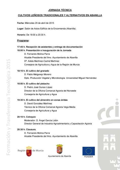 2015.04.29 Programa Jornada Técnica Abanilla