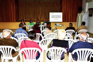 Vista del Salón de la AAVV de Tallante durante la celebración de la asamblea ordinaria del 17 de abril de 2015