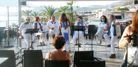 Trascurso del encuentro en la terraza del Restaurante Molina