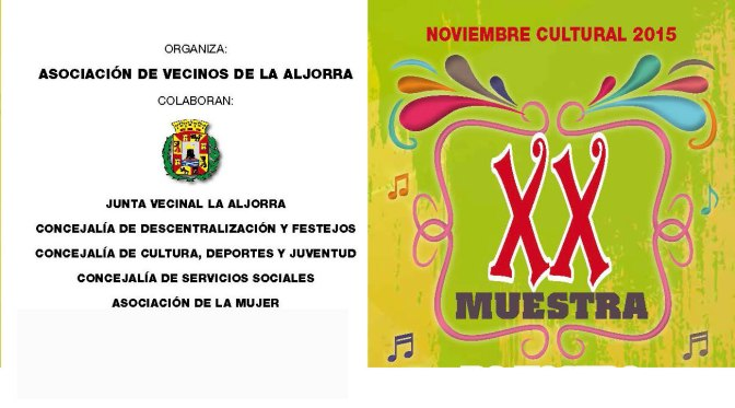 Noviembre Cultural en La Aljorra