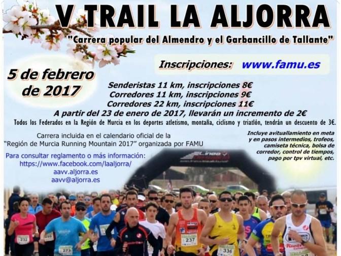 Ya te puedes inscribir en el V Trail La Aljorra