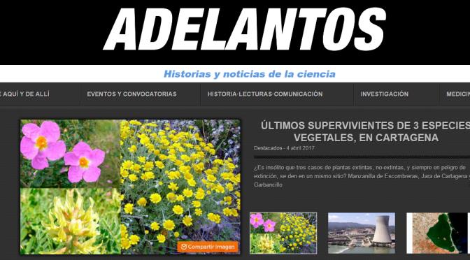 La revista Adelantos publica un artículo sobre el garbancillo de Tallante