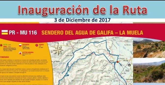 """Inauguración de la Ruta PR-MU 116 """"Sendero del agua de Galifa – La Muela"""""""